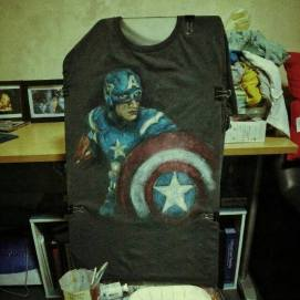Finished captain america tshirt