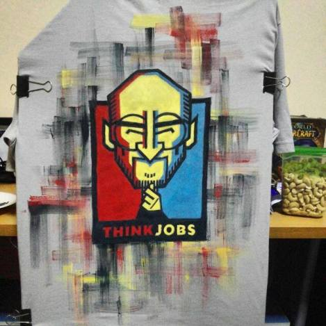 """Think Jobs"" - shirt commission requested by Marc"