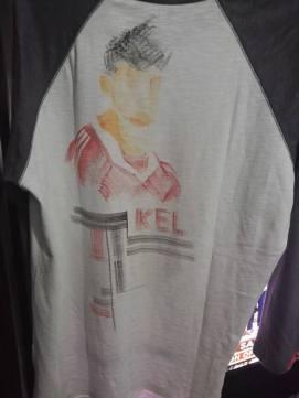 Back side of Kelvin's football shirt (steven gerard)