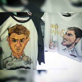 Steven Gerard and Iker Casillas - couple shirt I made for Sharon and Kelvin