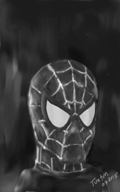 Spiderman head mobile sketch by Tuntun Dizon