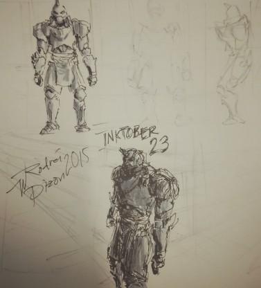 Al uli Entry 23: sketched during tea break #inktober #inktober23 #inktober2015 #quicksketch #alphonse #elric