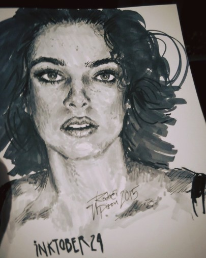Entry 24 for #inktober Portrait Study #inktober24 #inktober2015 #portraitsketch #ink #illustration #copic #penAndMarker @tuntunduduls