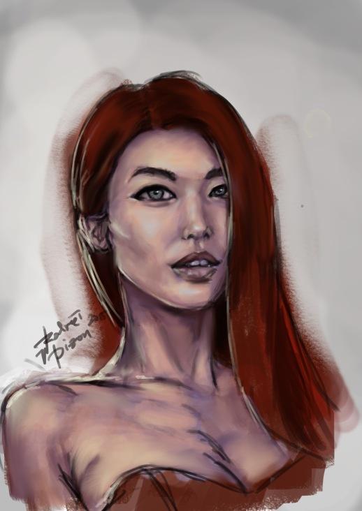 DIgital painting of rodreidizon, practice