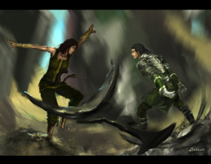 Korra x Kuvira: The Last Stand by Rodreidizon