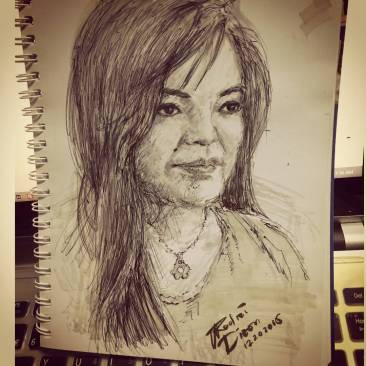 Livesketch: Rose Anne Dianne
