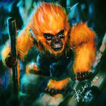 Fire Monkey Art Jam Entry for Metal Pen