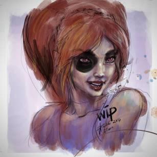 A Harley Quinn WIP