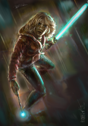 Hermione x Lightsaber Commission